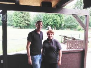 Mit Yvonne Pauli, HMT-Vorsitzende
