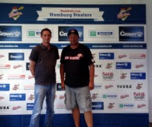 Mit Sven Huhnholz (Vorsitzender der Hamburg Stealers)