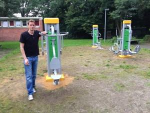 Beim Fitness-Parcours am Gymnasium Bondenwald