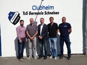 Koorosh Armi, Heinz Lipski, Niels Annen, Marc Schemmel, Jörg Wohlgemuth (v.l.n.r.)
