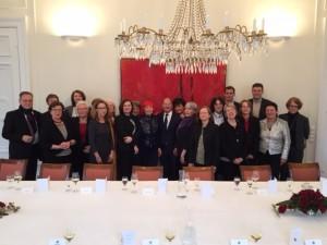 Mit den Gästen beim Senatsempfang